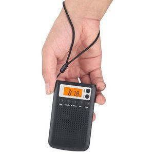 Stéréo alimenté par batterie Écran LCD Digital Pocket Radio Mini cadeau portable avec haut-parleur électrique ABS FM AM Accueil Tuning