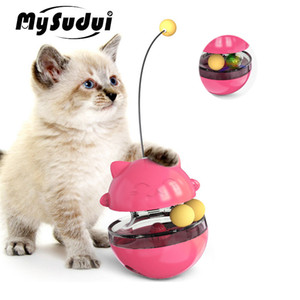 MySudui 3 In 1 Cat Toy Ball Track Treat Dispenser Interactive Funny Cat Teaser Stick Puppy Slow Feed Training Iq Toys