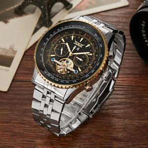Venda de acero inoxidable resistente al agua Gorben Economía Deportes Reloj mecánico de lujo relojes de los hombres masculinos del reloj relojes de pulsera