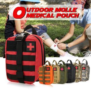 Açık MOLLE Tıbbi Kılıfı İlk Yardım Seti Yardımcı Çantası Acil Survival İlk Müdahale Medic Çanta Y200920