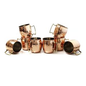 Mini Martelé Moscow Mule Tasse Espresso Tasses: mignon verres Travelling 2oz Tasses pour Mini Bar   Lot de 4 -cuivre plaqué