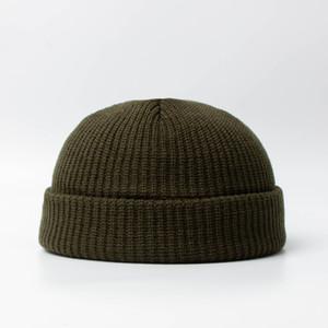 Cappelli lavorati a maglia per le donne Papalina uomini Beanie Inverno Retro brimless Baggy Melone Cap polsino di Docker Fisherman Berretti Cappelli cny1806