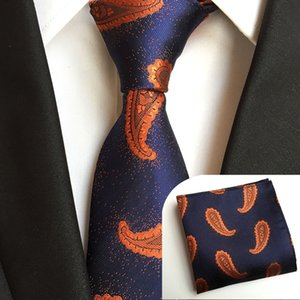 Fashionable Polyester Material for Men Formal Suit Men's Tie and Pocket Square Set for Party Wedding Gift