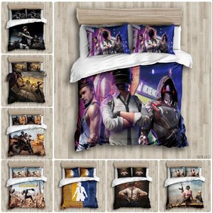 Cartoon DIY Printed Duvet Cover set Gun Machine ESports Games Pattern kids Room Bed Comforter Double Bedding set 3pcs