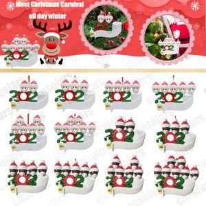 HOT 2020 Рождественского орнамент персонализированного Survivor Семейного 2 3 4 5 6 7 Смола украшение Маска ручного промытой Рождественская елка Висячей подвеску