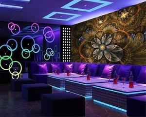 Custom Modern Wallpaper Atmospheric Diamond Classic papel de parede 3d Wallpaper Luxury Flower KTV Bedroom Background
