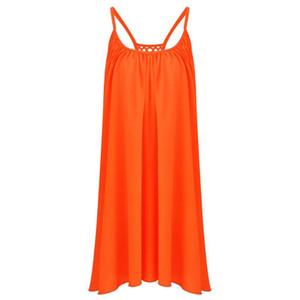Fashion Summer Women Soft Chiffon Sleeveless Evening Party Beach Slip Dress for pregnant women