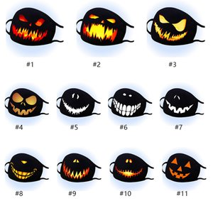 In stock Halloween Fashion Face Mask Dustproof Cotton Masks Designer Washable Reusable Festival Face Mask Personalized Printing Cycling Mask