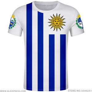URUGUAY t-shirt diy numéro de nom fait personnalisé gratuit Ury nation T-shirt drapeau uy vêtements de texte photo collège uruguayens pays espagnol