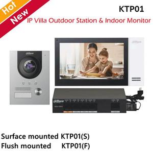 Estación al aire libre dahua video intercomunicadores IP Kit de Villa y monitor de interior 2MP noche para cámara de visión y la superficie de empotrar opcional