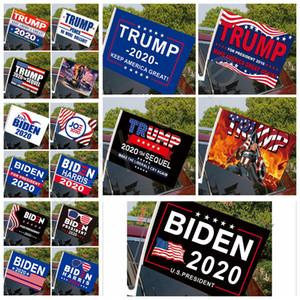 45*30cm Biden Trump Car Flag 2020 US Presidential Election Trump Print Flag Car Window Flag Including Flagpole 17styles RRA3611