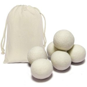 New Wool Dryer Balls Premium Reusable Natural Fabric Softener 2.75inch 7cm Static Reduces Helps Dry Clothes in Laundry Quicker HHC1921