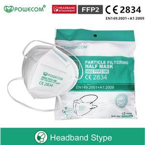 DHL Kargo Bedava! Powecom KN95 CE 2834 belgesi ile Yetişkin Anti-Sis Bulanık Grip KN95 Yüz Maskesi ve FFP2 Maske