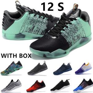 scarpe da basket degli uomini di tessitura Nuova K6, scarpe di protezione, da allenamento, playoff All-Star traspirante scarpe da ginnastica di Natale nero e giallo