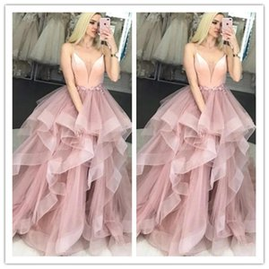 Blush Pink Prom Dress Spaghetti Strap Flowers Tulle Ruffles Evening Gown Girl Party Dress for Graduation Custom Made robes de soiree