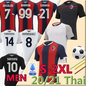 2020 2021 1909 FC BOLOGNA maillot de football maglie da calcio Sansone SANTANDER Orsolini Tomiyasu Skov Olsen Soriano football chemises d'uniformes