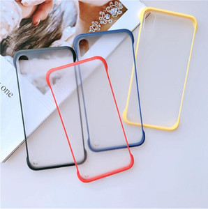 Frameless Phone Case Cover Ultra Thin Transparent Cellphone Cases for iPhone11 11pro XR XS MAX 8 7 6 Plus Matte case