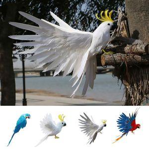 Сад Орнамент Искусственный птица попугай Фигурка для дома и офиса Декор стол Декор