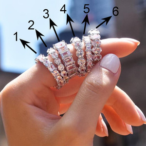 2020 New Gorgeous Cubic Zirconia Promise Rings for Women 6 Styles Available Noble Wedding Jewelry Ring for Girl Fine Gift Ring
