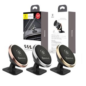 STOCK Baseus dell'automobile di alta qualità Phone Holder 360 gradi GPS Magnetic Phone Holder moblile Per Telefono xs Samsung S9 stand Air Vent Mount