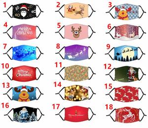 US konstruktive Gestaltung von Masken Chrismas Partei Cosplay Masken mit Filter waschbar Gesichtsmaske Digitaldruck Halloween Schutz Cotton Mask Maske