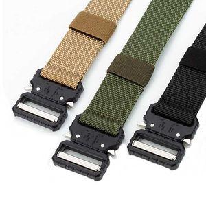 صيد القتال التكتيكي حزام حزام جيش التدريب في الهواء الطلق قابل للتعديل جودة عالية نايلون اكسسوارات الأمن
