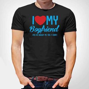 العلامة التجارية الجديدة 2019 الصيف الرجال قصيرة الحب صديقي FUNNY هدية عيد الميلاد TSHIRT TSHIRT T SHIRT GAY LGBT الأبيض! لطيف قمصان T