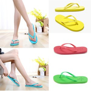 Pools Flat with flip Flops Candy Colors Beach Pools Slippers Shoes For Women Casual Home Bathroom Sandals home shoes w-00280