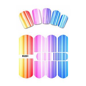 مسمار ملصق مائي لWATER SLIDER RAINBOW SERIAL STRIPE خط DEW الكرة الملونة WATER RU301-306