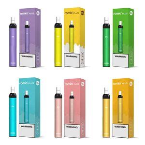 12Types Romio Além disso descartável Pod Dispositivo 500mAh Battery 500 Puff 3 ml pré-introduzida cigarro Vape caneta eletrônica Kit VS Xtra Fluxo XXL Além disso,
