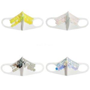 Женщины Девушки Необычные Магия Защитная маска для лица Ночной клуб Показать Блестки партии Cosplay DesignerFace маска # 333