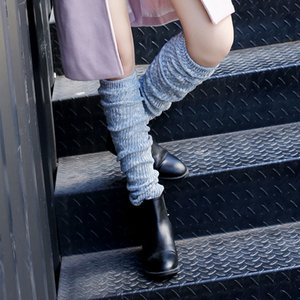 2020 New Heat Women Warm High Knee Winter Color Matching Knit Socks For Ladies Boots Beenwarmers Long Socks