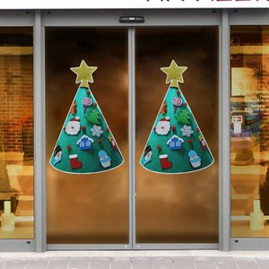 Christmas Window Wall Stickers 3D Murals DIY Home Decoration Christmas Tree for Home Decorations Wall Decals Artificial Tree