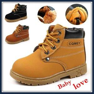 Moda Bebek Boots Kız Erkek Martin Boots Casual Rahat Ayakkabı 21-30 Schuhe Kinder Çocuk Ayakkabıları