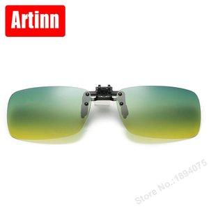 Мужчины Polarized Shade Shade Clip Color Film 9901F Очки Gradient Color Солнцезащитные очки Прохладный Солнцезащитные Очки Папка PNWGM