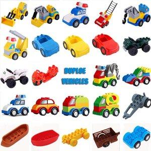Presentes Police Duploed Crianças Xmas guindaste Crianças Edifício escavadora Peças educacional para Duploe Bricks Carros Blocks Brinquedos bbyGDL homebag