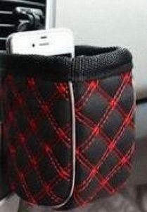micro custodia fibra per auto AC sfogo articoli vari Auto uscita Air Vent supporto dell'organizzatore sacchetto mobile occhiali titolare nTY7 #