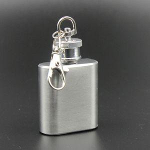 1 oz en acier inoxydable Mini Flasque avec porte-clés de haute qualité Portable Pocket Flagon vin Pots Personlized Logo est disponible DBC BH4120