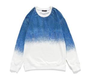 Autumn Spring 2020 Men Casual Hoodies Paris Fashion Sweatshirt White Blue Hip Hop Punk Pullover Streetwear Classic Business Clothes