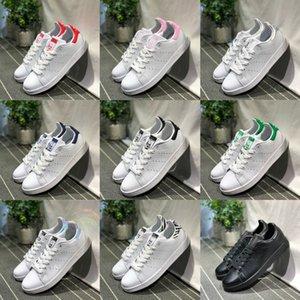 Çevrimiçi Satış Stan Ayakkabı Ucuz Kadınlar Erkekler Rasgele Deri Superstars Kaykay delme Beyaz Siyah Smith Yeşil Mavi Spor Ayakkabıları
