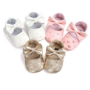 Girl Baby Moccasins Moccs Shoes PU Leather Baby Boy Bow Fringe Soft Soled Non-slip Footwear Crib Shoes