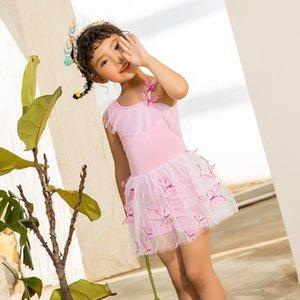 AKxeO Kız tek parça Princess mayo sevimli çocuk Elbise öğrenci bebek Prenses elbise Mayo tarzı Kore örgü etek boksör mayo