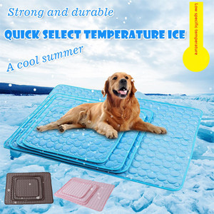 Dog Mat Summer Cooling Pad Pet Urine Tapis réutilisable couche-culotte Lit Pad Coussin Multifuntional imperméable Tapis de couchage Accessoires pour animaux HHE1425