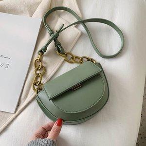 Vintage Half Moon Sacs à bandoulière pour les femmes 2020 Sacs à main Femme Petit sac SACOCHE bandoulière en cuir de luxe Femmes Sacs Designer