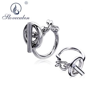 Slovecabin 925 Sterling Silver European Vintage Bijoux Femme Hip Hop Men Wedding Engagement Jewelry Big Rings For Women J190626