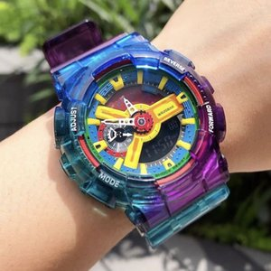 Wrist Радуга 110 G Стиль Shock часы Новые Arrvial Sport Мужские часы Big циферблатом LED цифровые Dropship коробками часы Хороший подарок для Man