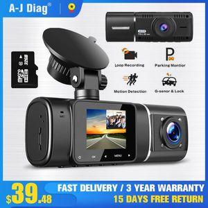 Hidden Driving Recorder IPS Screen HD 1080P Car DVR Dual Recording Night Vision Parking Monitoring Rotatable Dash Camera