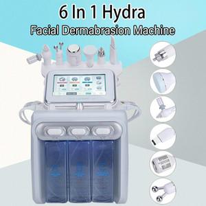 Heiße Selling Big Pump 6 in 1 H2O2 Gesicht Maschine H2O2 Aqua Wasser Hydrafacial kleinen Blase Sauerstoff Peel Skin Care-Dermabrasion Maschine