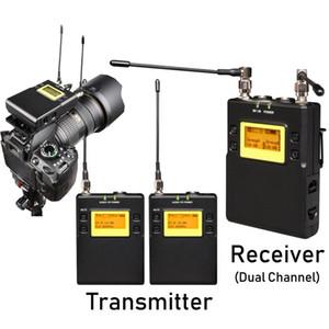 Leicozic E200 Integrated Digital BodyPack Wireless Lavalier Sistema de micrófono para cámara DSLR Entrevista Microfona con estuche rígido