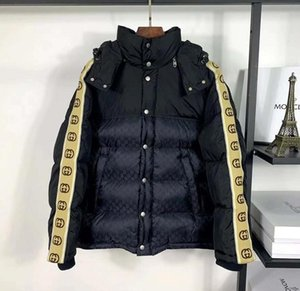 2020 Italy's latest explosions striped stitching casual warm high quality men's shirt is still top color matching hooded Cotton jacket Warm